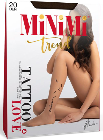 Колготки MINIMI Tattoo Love 20